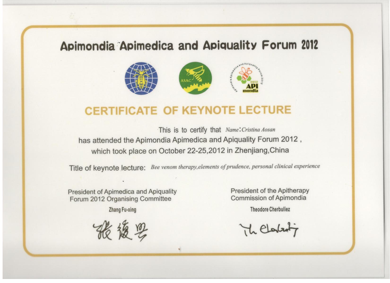Apimedica China 2012