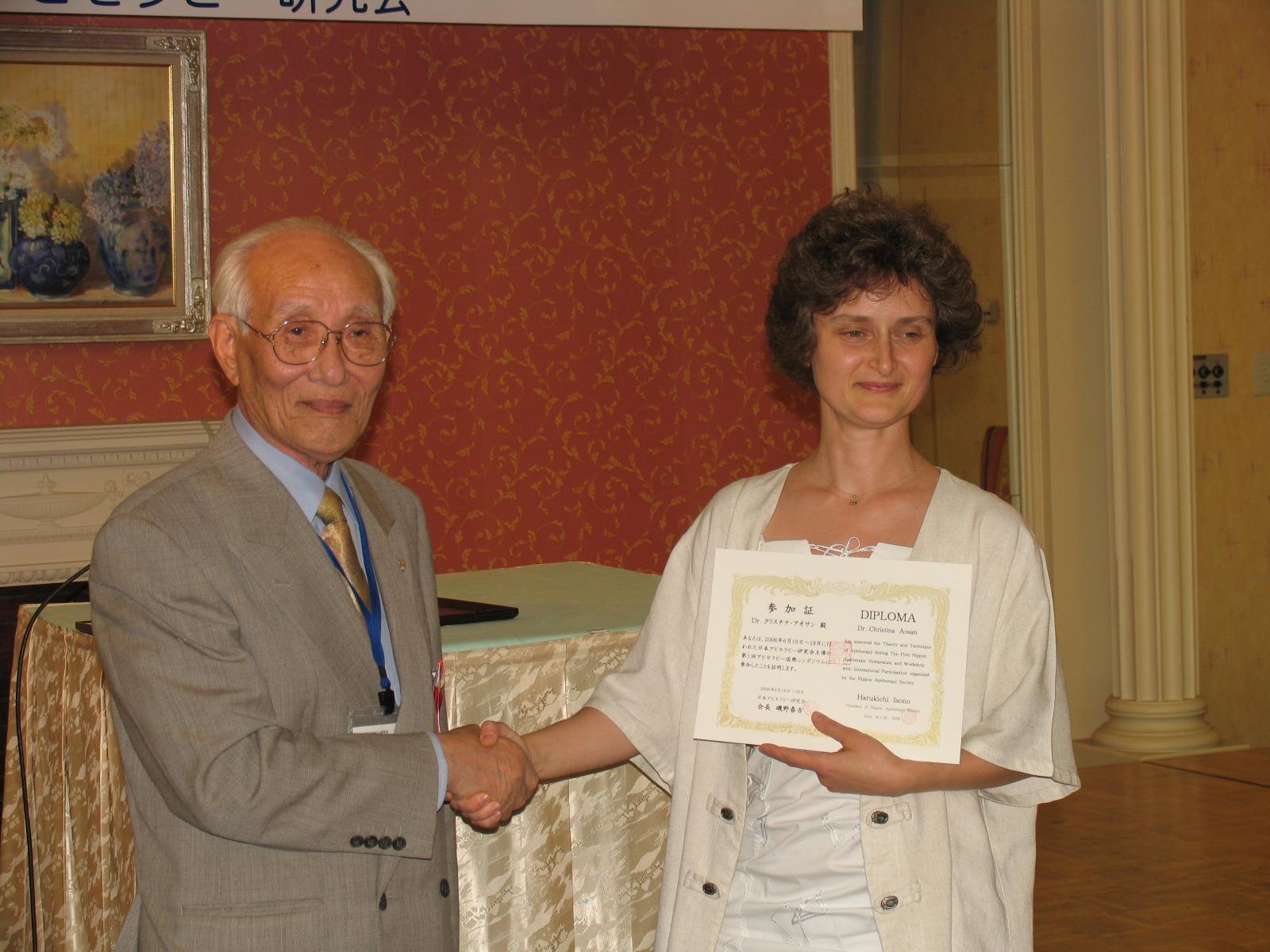 Cu Presedintele Societatii Japoneze de Apiterapie