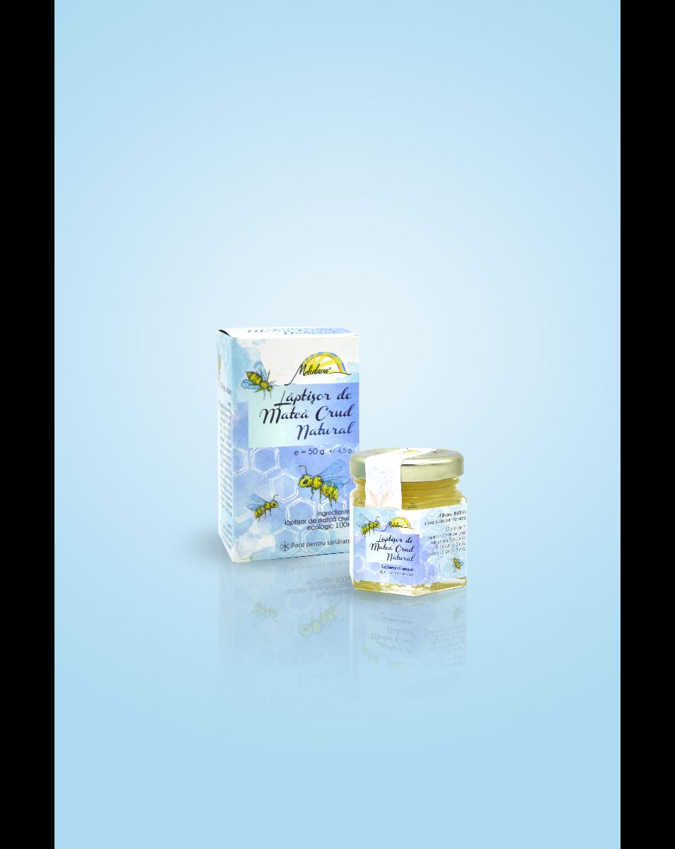 Laptisor de matca crud natural (materie prima BIO) Melidava, excelent tonic si trofic